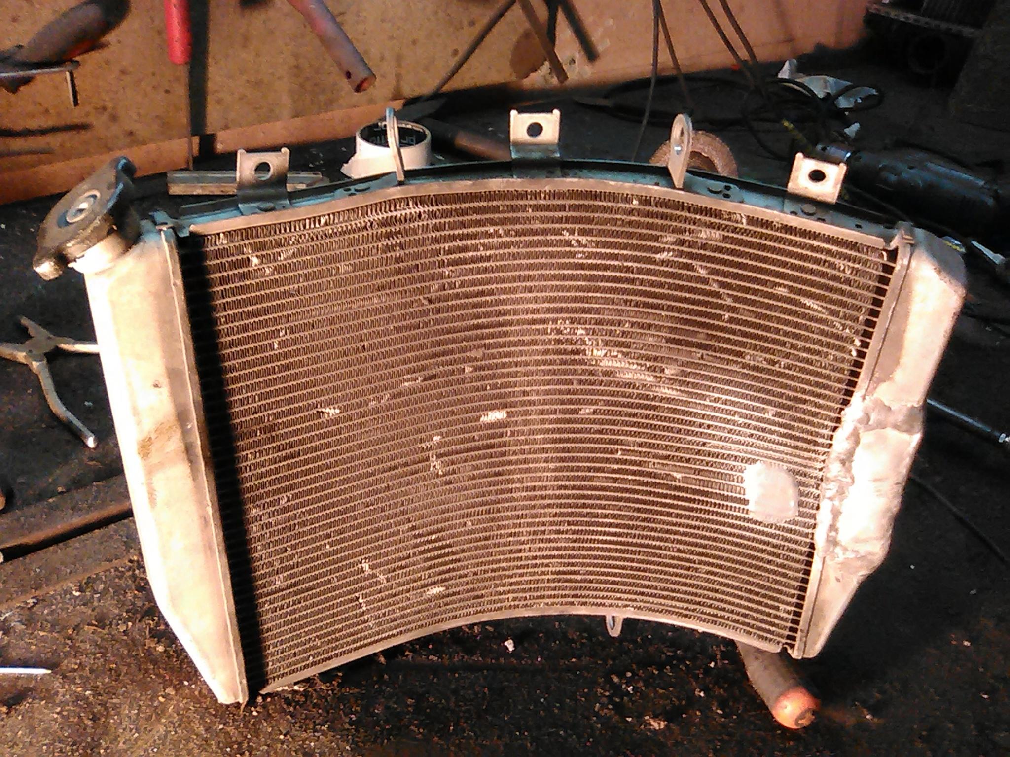 Ремонт алюминиевого радиатора автомобиля 12